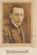 Autographs:Artists, Sergei Rachmaninoff Signed Photograph....