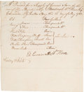 Autographs:Non-American, Edward Cornwallis Document Signed....