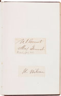 Autographs, 19th Century Autograph Album, ...
