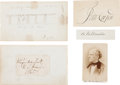 Autographs:Statesmen, Winfield Scott Signature with Eleven Additional Autographs and aCDV. (1800s).... (Total: 13 )