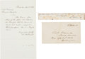Autographs:Statesmen, David Wilmot Autograph Letter Signed with Envelope....