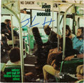 Music Memorabilia:Autographs and Signed Items, John Lee Hooker Signed Never Get Out of These Blues AliveWhite Label Promo LP (ABC ABCX-736, 1972). ...