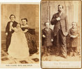 Photography:CDVs, [Circus/Sideshow Performers]. Pair of Cartes De Visites Depicting Sideshow Performers. Undated, Circa 1865....