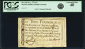 Colonial Notes:North Carolina, North Carolina December, 1771 2 Pounds Bird Fr. NC-141. PCGSExtremely Fine 40.. ...