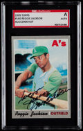 "Baseball Cards:Singles (1970-Now), Signed 1970 Topps Reggie Jackson ""Mr. October"" #140 SGCAuthentic...."