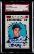 Baseball Cards:Singles (1970-Now), Signed 1970 Topps Juan Marichal All-Star #466 SGC Authentic....