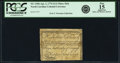 Colonial Notes:North Carolina, North Carolina April 2, 1776 $1/4 Three Fish Fr. NC-155b. PCGS Fine 15 Apparent.. ...