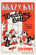 "Movie Posters:Animation, Krazy Kat in Wedding Bells (Columbia, 1933). One Sheet (27"" X41"").. ..."