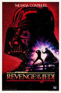 "Revenge of the Jedi (20th Century Fox, 1982). One Sheet (27"" X 41"") Undated Advance Style"