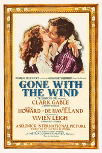 "Gone with the Wind (MGM, 1939). One Sheet (27"" X 41"") Style DF, Armando Seguso Artwork"