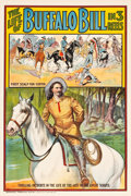 "Movie Posters:Western, The Life of Buffalo Bill (Pawnee Bill Film Co., 1912). One Sheet(28"" X 42"").. ..."