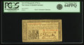 Colonial Notes:New Jersey, New Jersey March 25, 1776 1 Shilling Fr. NJ-175. PCGS Very ChoiceNew 64PPQ.. ...