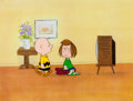 Animation Art:Production Cel, Peanuts The Charlie Brown and Snoopy Show Charlie Brown andPeppermint Patty Production Cel Setup and Drawing ... (Total: 4Original Art)