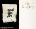 Books:Science Fiction & Fantasy, Robert Bloch. SIGNED. Blood Runs Cold. New York: Simon and Schuster, 1961. ...