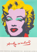 Fine Art - Work on Paper:Print, Andy Warhol (American, 1928-1987). Marilyn Monroe, Museum Ludwig exhibition poster. Color poster. 46 x 32-5/8 inches (11...