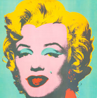 Andy Warhol (American, 1928-1987) Marilyn Monroe Color print on canvas 40 x 40 inches (101.6 x 101.6 cm) (sight)