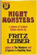 Books:Science Fiction & Fantasy, Fritz Leiber. Night Monsters. London: Victor Gollancz Ltd, 1974. ...