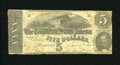 Confederate Notes:1863 Issues, T60 $5 1863. Handling is seen on the edges of this 1st Series $5.Very Good....
