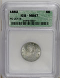 Liberty Nickels, 1883 5C No Cents MS67 ICG....