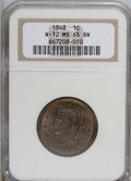 Large Cents, 1848 1C MS65 Brown NGC....