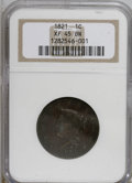 Large Cents, 1821 1C XF45 NGC....