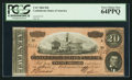 Confederate Notes:1864 Issues, T67 $20 1864 PF-39 Cr. 539.. ...