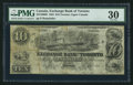 Canadian Currency: , Toronto, UC- Exchange Bank of Toronto $10 May. 1, 1855 Ch. #255-10-08R. ...