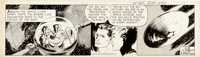Al McWilliams Twin Earths Daily Original Art dated 6-8-53 (United Feature Syndicate, 1953)