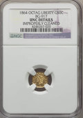 California Fractional Gold , 1864 50C Liberty Octagonal 50 Cents, BG-917, R.4, -- ImproperlyCleaned -- NGC Details. UNC. NGC Census: (0/7). PCGS Popula...