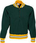 Football Collectibles:Uniforms, Early 1970's Green Bay Packers Game Worn Sideline Sweatshirt - Jerry Kramer Collection....