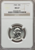 Washington Quarters, 1963 25C MS67 NGC. NGC Census: (67/0). PCGS Population (16/0). Mintage: 74,300,000. Numismedia Wsl. Price for problem free ...