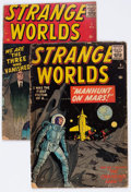 Golden Age (1938-1955):Science Fiction, Strange Worlds #4 and 5 Group (Avon, 1959).... (Total: 2 ComicBooks)