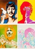 "Movie Posters:Rock and Roll, The Beatles Special Look Magazine Prints by Richard Avedon (NEMSEnterprises, Ltd., 1967). Posters (4) (22.5"" X 31"") and (1)...(Total: 5 Items)"