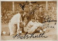 Baseball Collectibles:Photos, 1934 Babe Ruth, Lou Gehrig & Jimmie Foxx Signed Tour of JapanPhotograph....