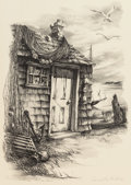 Fine Art - Work on Paper:Print, Georges Schreiber (American, 1904-1977) and Lucille Hobbie (American, 1915-2008). Clampoint and Fisherman's Shack (t... (Total: 2 Items)