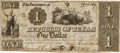 Miscellaneous, Republic of Texas $1 Dollar Change Note....