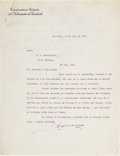 Autographs, [Mexican Revolution]. Venustiano Carranza Typed Letter Signed. ...