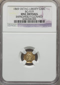 California Fractional Gold , 1869 50C Liberty Octagonal 50 Cents, BG-919, R.4, -- ImproperlyCleaned -- NGC Details. UNC. NGC Census: (0/14). PCGS Popul...