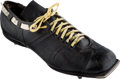 Football Collectibles:Others, 1962 Jerry Kramer Game Worn Kicking Shoe from NFL Championship Game....