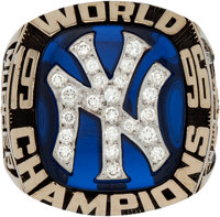 1996 New York Yankees World Championship Ring Presented to Bobby Murcer
