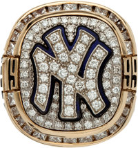 1999 New York Yankees World Series Championship Ring Presented to Bobby Murcer