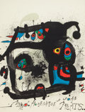 Prints:Contemporary, Joan Miró (Spanish, 1893-1983). Homenatge a Joan Prats,1972. Lithograph in colors on paper. 28-3/4 x 22 inches (73 x 55...