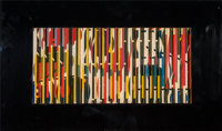 Yaacov Agam (Israeli, b. 1928) Untitled Lithograph on wooden construction mounted to acrylic 15 x