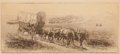 Prints, Edward Borein (American, 1873-1945). Emigrant Train. Etching and drypoint on paper. 5-7/8 x 14 inches (14.9 x 35.6 cm) (...