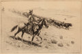 Prints, Edward Borein (American, 1873-1945). Point Riders, 1922. Etching and drypoint on paper. 7-1/8 x 11-5/8 inches (18.1 x 29...