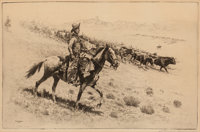 Edward Borein (American, 1873-1945) Point Riders, 1922 Etching and drypoint on paper 7-1/8 x 11-5