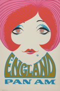 Fine Art - Work on Paper:Print, American School (20th Century). England, Pan Am travelposter. Color poster on paper. 41-3/4 x 28 inches (106.0 x 71.1c...