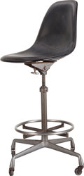 Furniture : American, A Charles and Ray Kaiser Eames Steel and Faux Leather DraftingChair, circa 1960. 45-3/4 inches high (116.2 cm). ...