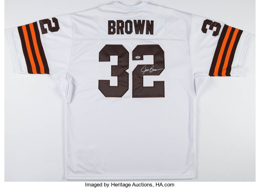 wholesale dealer b829f 77380 Jim Brown Signed Cleveland Browns Jersey.... Football ...