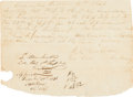 Miscellaneous, Columbia Issued Manuscript Promissory Note. ...